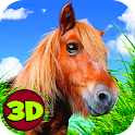 Farm Pony Horse Ride 3D icon