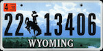 Image of the Wyoming state license.