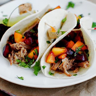 Smoky Pulled Pork Tacos with Cherry-Peach Salsa