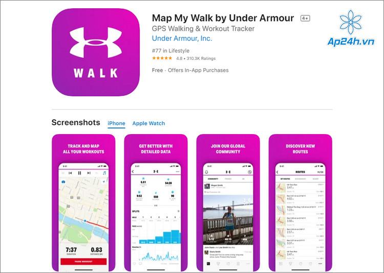 Ứng dụng đi bộ trên iPhone