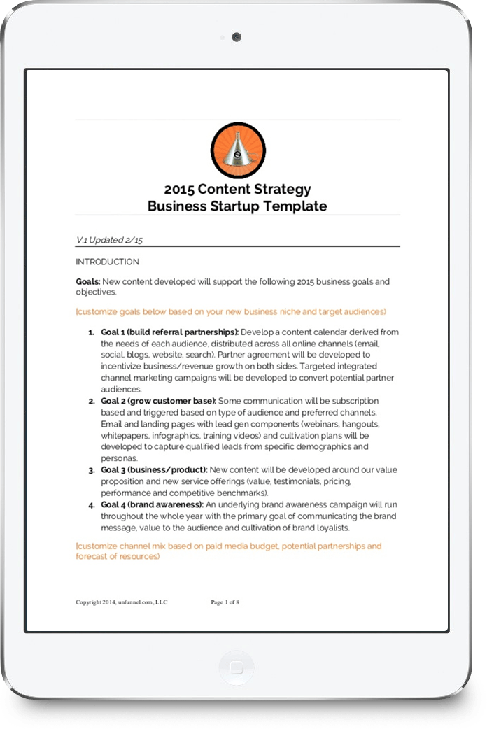 Content Strategy Template for Startups