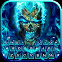 Blue Flame Skull Keyboard Theme icon