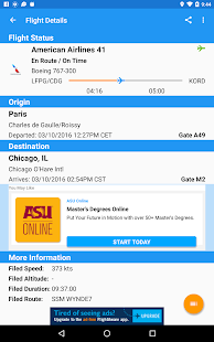 FlightAware Flight Tracker Screenshot