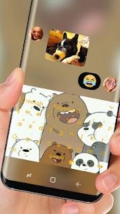 Panda Brother keyboard theme - náhled