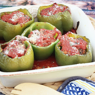 Meatloaf Stuffed Peppers.