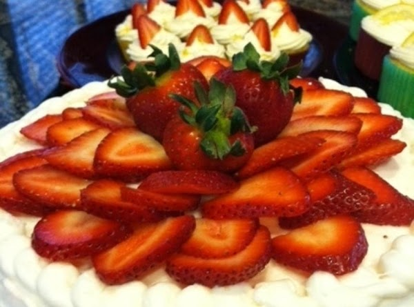 Place your strawberries on the cake when you're ready to serve, this will avoid...