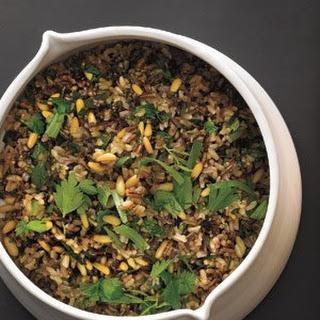 Wild Rice and Pine Nut Salad.