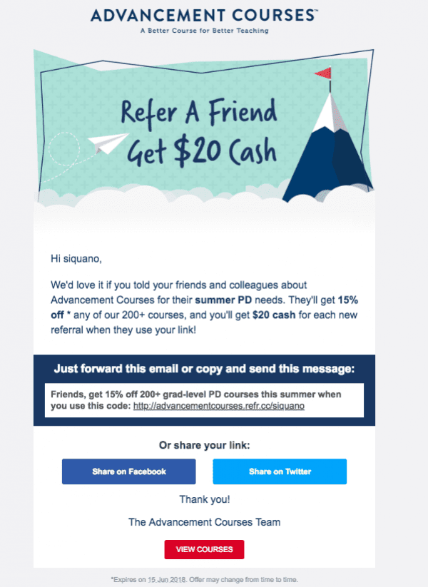 20 Examples of Beautiful Referral Email Designs
