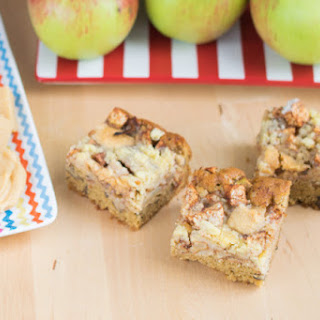 Apple Fudge Crumble Tray Bake.