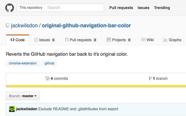 Original GitHub Navigation Bar Color