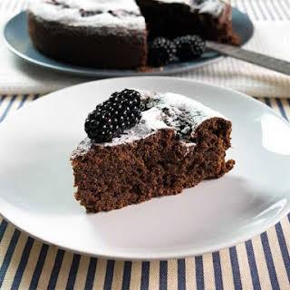 Blackberry Chocolate Almond Cake.