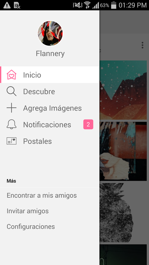 We Heart It: captura de pantalla