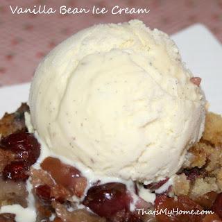 Homemade Vanilla Bean Ice Cream.