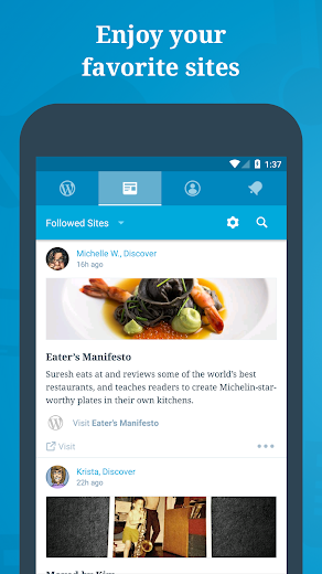 Screenshot 0 for WordPress's Android app'