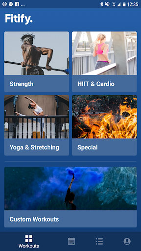 Fitify Workouts & Plans Fitness app screenshot 1 for Android