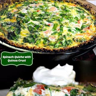 Gluten Free Quiche with a Quinoa Crust.