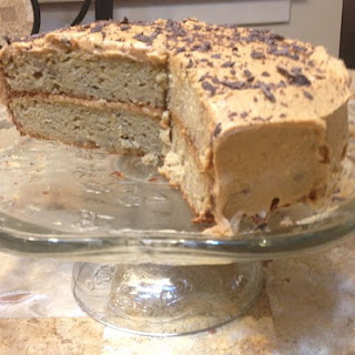 Banana Cake with Peanut Butter Frosting.