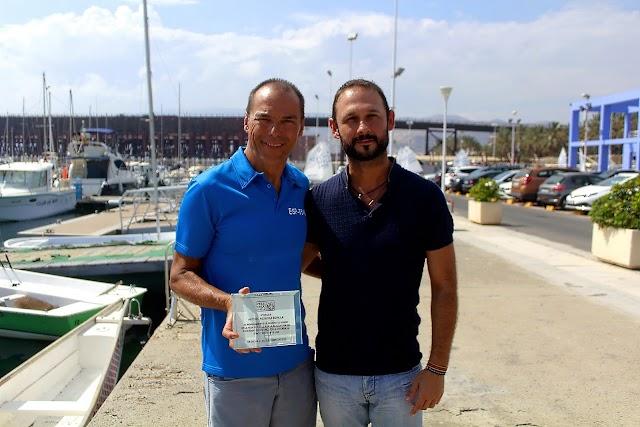 Antonio Hermosa, periodista de Canal Sur; y Luis González, presidente de la Peña La Luz.