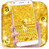 Gold Glitter Keyboard Theme