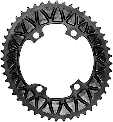 Absolute Black Premium Sub-Compact Oval 110 BCD Road Outer Chainring - Shimano Asym BCD, 4-Bolt, Narrow-Wide alternate image 1