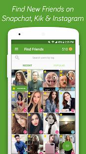 Find Friends for Snapchat & Kik, Usernames for Kik - náhled