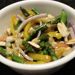 Roasted Asparagus and Yellow Pepper Salad.
