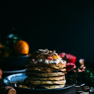 Almond Pancakes with Satsuma Compote.