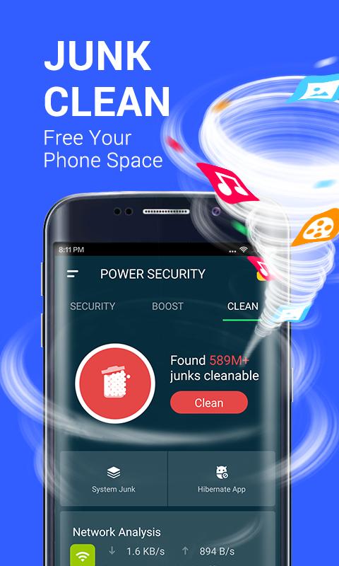 Power Security-Anti Virus, Phone Cleaner Screenshot 4