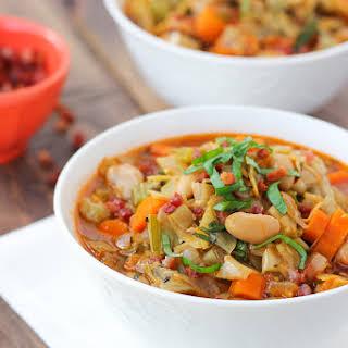 Artichoke, White Bean, & Vegetable Soup {Gluten-Free, Dairy-Free}.