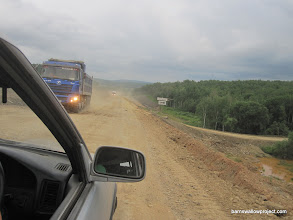 Photo: a loong stretch of crappy road on the way to Khabarovsk