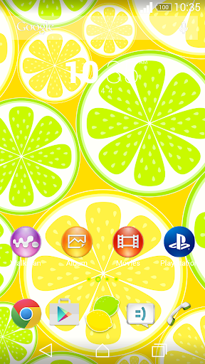 XperianZ™ Lemon lime theme