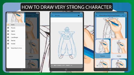 How to Draw Very Strong Character - Drawing Anime 1.0 APK + Mod (Free purchase) إلى عن على ذكري المظهر