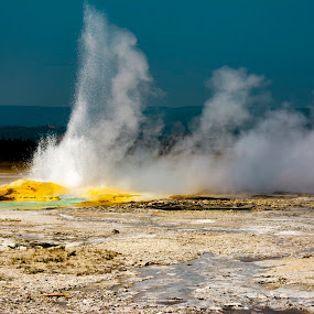 Yellowstone National Park 7 by Chuck Vinson - Landscapes Waterscapes ( rivers, usa, bacteria, nature, springs, streams, wyoming, water, yellowstone, parks, beautiful, geysers, steam, travel, hot-springs, photography, landscape, colorful,  )