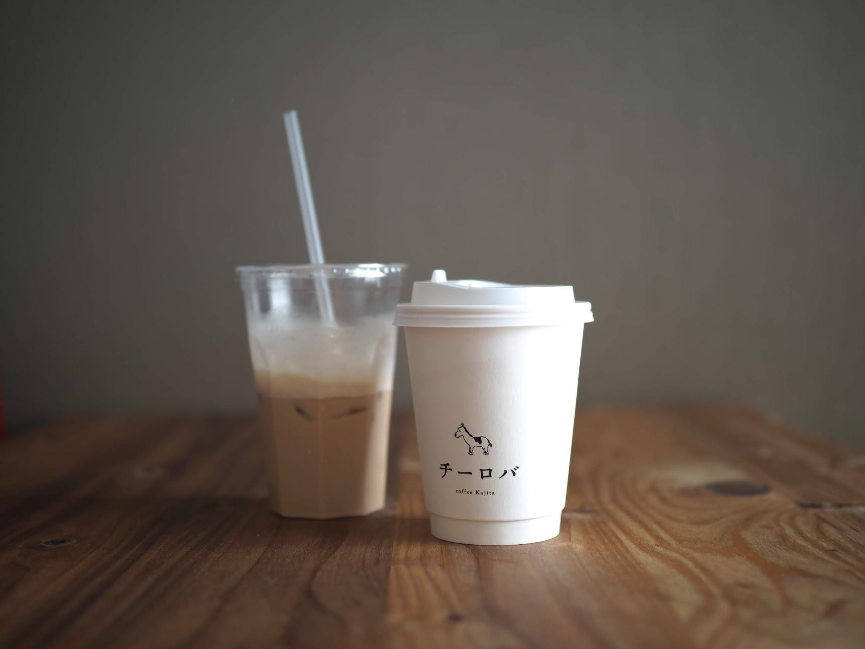 チーロバのドリップコーヒーとアイスカフェラテ
