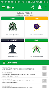 PASS.NG (JAMB CBT 2017)- screenshot thumbnail