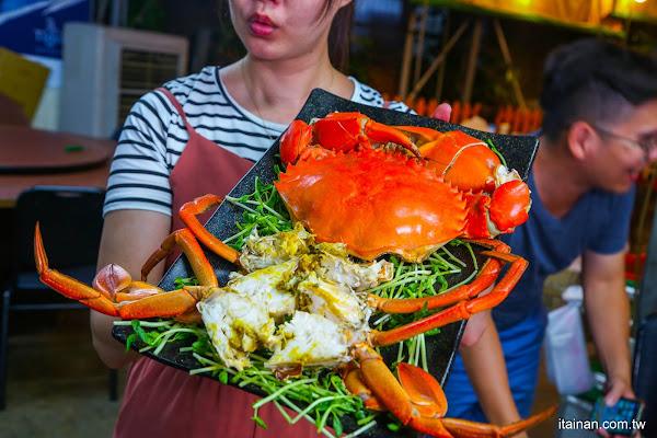 大螃蟹海鮮碳烤