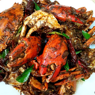 Spicy Kam Heong Crab.