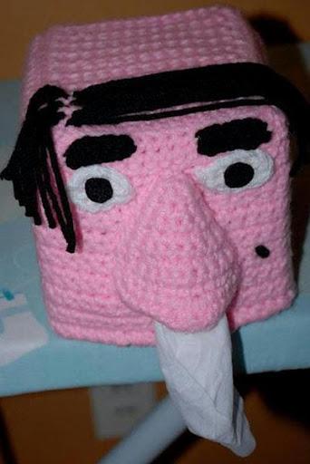 かぎ針編みのティッシュボックス