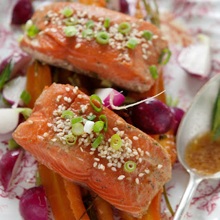 Alaska Salmon with Shoyu Tarragon Sauce