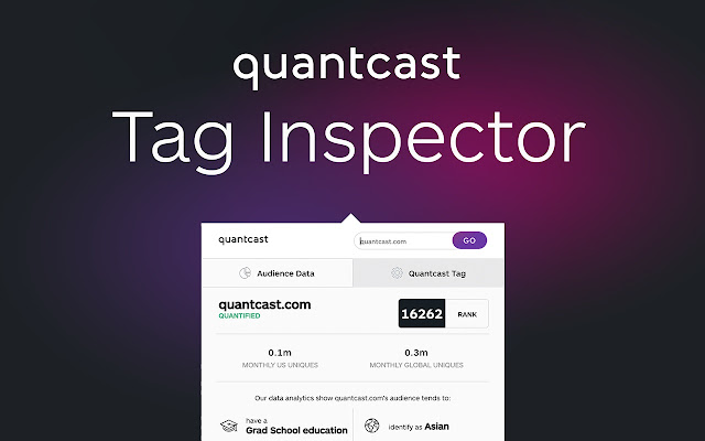 Quantcast - Traffic Rank & Audience Insights
