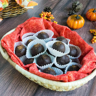 No Bake Low Carb Chocolate Pumpkin Truffles.
