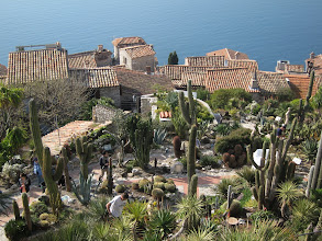 Photo: Eze is famous for its cactus garden.