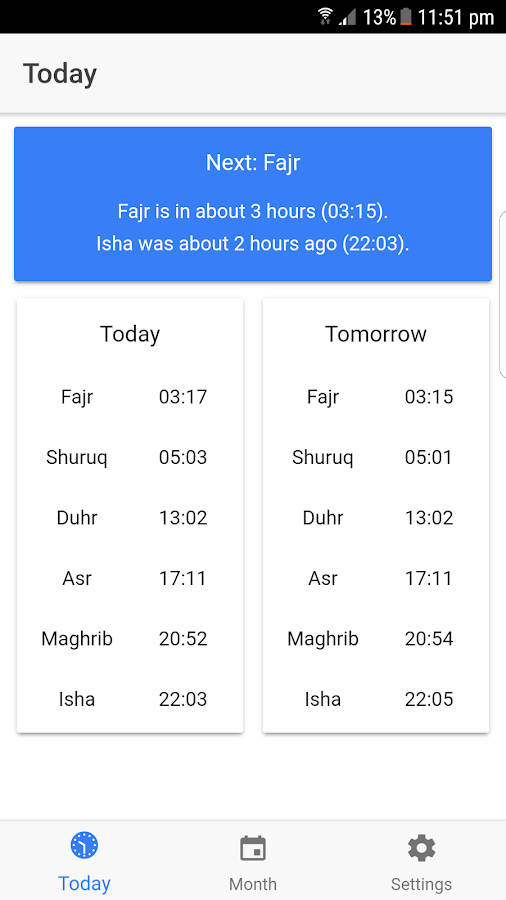 London Prayer Times- screenshot