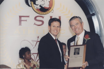 Photo: 2001 Hall of Fame Banquet - Bill Durham with Dave Hart