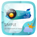 Simple GO Weather Widget Theme icon