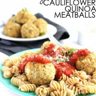 Vegan Cauliflower Quinoa Meatballs.