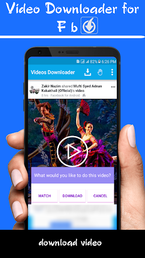 Videos downloader for Facebook:fast fb video saver for PC