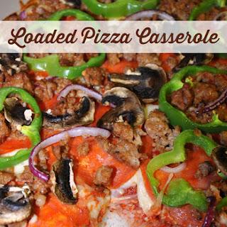 Loaded Gluten Free Pizza Casserole