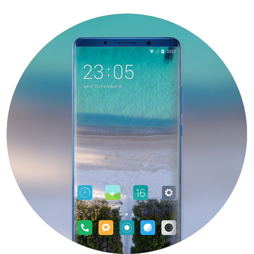 Theme for Samsung galaxy a7 nature beach wallpaper icon