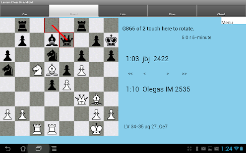 Lantern Chess on Android - náhled